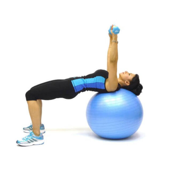 Stability Ball Chest Presses 02 - Pro:Kinesis Personal Training, High Wycombe